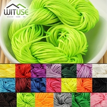 30Meters 1.0MM Waxed Thread Cotton Cord String Strap Wholesale Jewelry Necklace Rope Bead Fit shamballa Bracelet(China)
