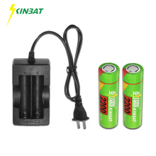 KINBAT 18650 3.7V 2200mAh Lithium Li-ion Rechargeable Battery 4.2V Dual Slot Intelligent Charger Flashlight - Official Store store