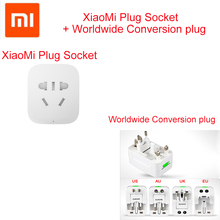 Worldwide Conversion plug +Original Xiaomi Smart Socket Plug WiFi Wireless Remote Socket Adaptor Power on and off with phone