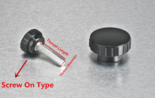 free shipping Black 6mm Diameter Thread Round Head Screw On Clamping Knob for industrial machine