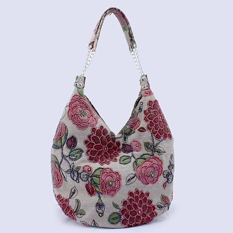 Hot Sale Women Fashion brand Beaded shoulder bag 2017 flower Evening Bag Retro chain Handbag /clutches Tote Beach Bag Gift Li312<br><br>Aliexpress