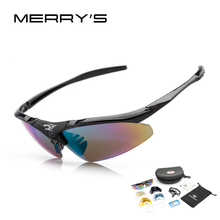 MERRY'S Men Sunglasses Road Glasses Mountain Protection Goggles Eyewear 5 Lens - official store