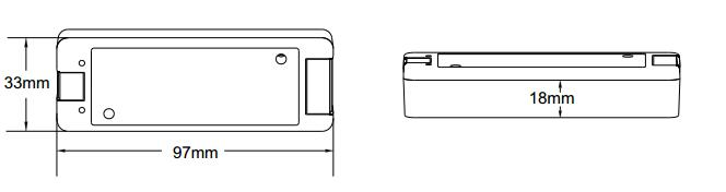 Dimension of LED Dimmer 12V