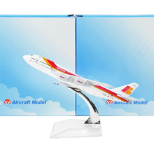 Spain Iberia Airlines B747 16cm,metal airplane Birthday gift plane models toys Free Shipping