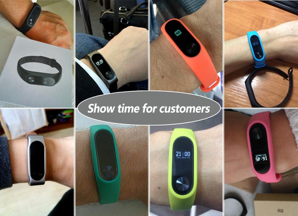 In stock 100% Original Xiaomi Mi smart wristband Xiomi Fitness Bracelet miband 2 mi band 2 for Xiaomi Mi6 sport tracker 23