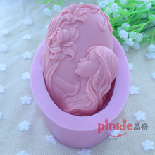 Head girls Soap Mold Fondant Mold,Resin Clay Chocolate Candy Silicone Cake Mould,Fondant Cake Decorating Tools wholesale