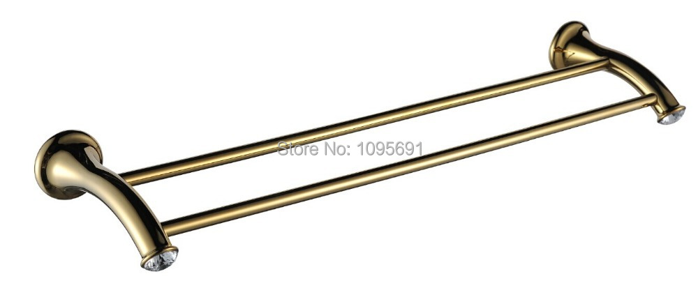 Free shipping European stylegold plating  luxurious  golden  towel rack  bath towel holder double Towel bar<br><br>Aliexpress