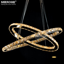 Oval LED Dinning Pendant Light Fixture Modern Crystal Lustre LED Diamond Lamp Mirror Stainless Steel Light Fitting Homes Decors
