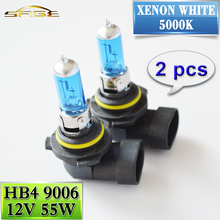 HB4 9006 12V 55W Halogen Lamp 1 Pair Super White 5000K Xenon Dark Blue Quartz Glass Car HeadLight