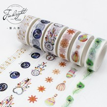 The Sixth Season 13 Designs Motif Decorative Washi Tape DIY Scrapbooking Masking Craft Tape School Office Supply