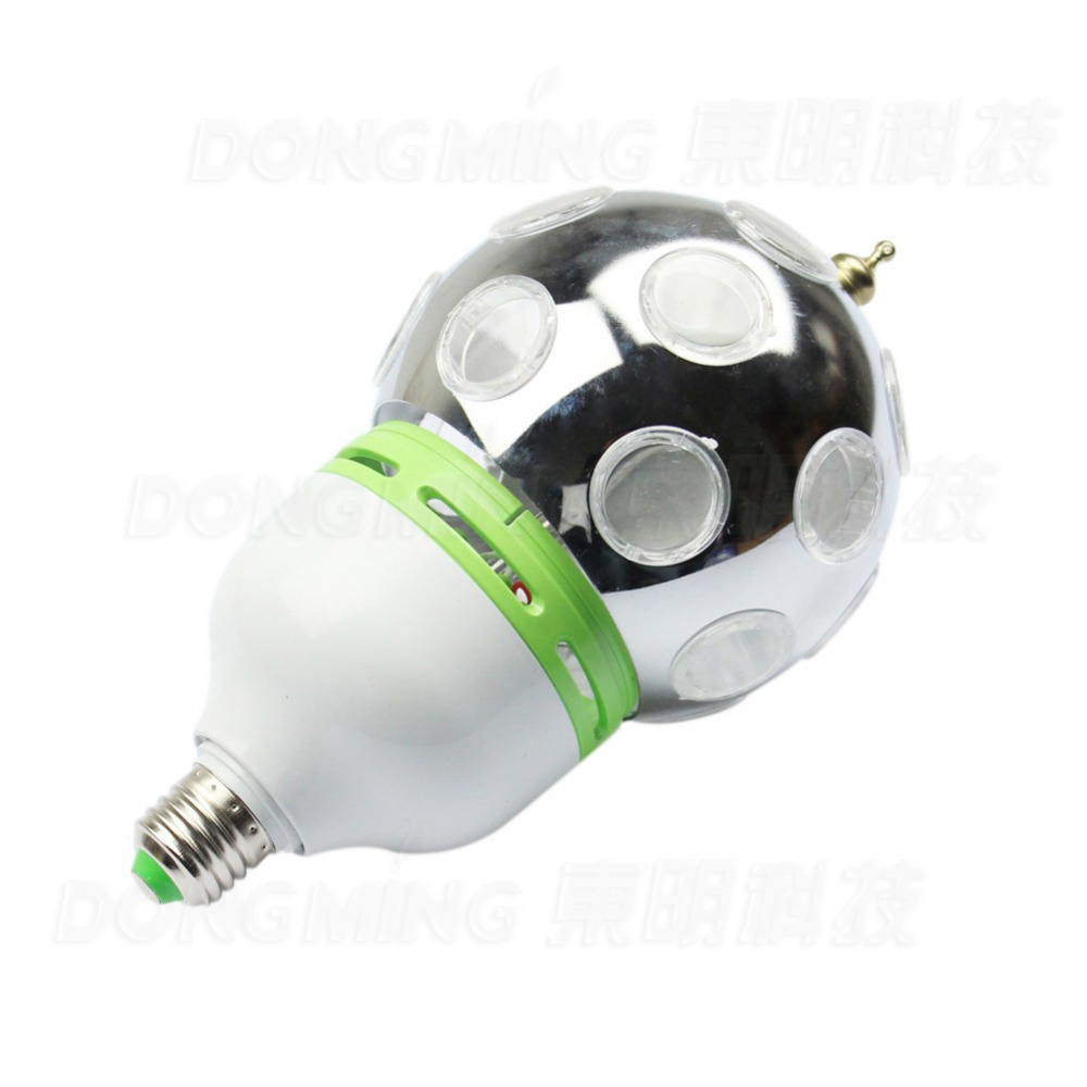 Free Shipping 2pcs Auto Rotative Stage lights Full Color 1W E27 LED Stage Light DJ RGB Disco led Bulb Lamp<br>