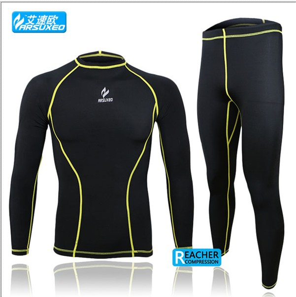 2015 compression tights base layer running Fitness gym exercise fitting soccer men sports clothing shirt pant jersey suit<br><br>Aliexpress