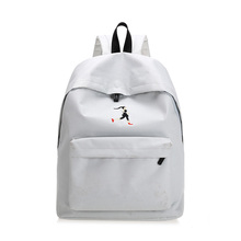 KVKY Summer Women Cute Canvas Backpack Fashion Travel Bags Embroidery Backpacks New Style Shopping Backpack for Teenage Girls