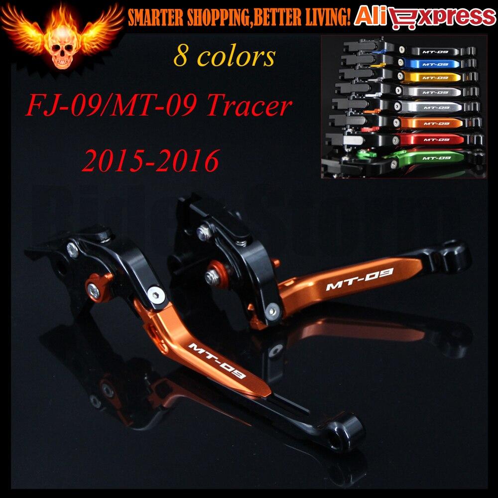 2017 Hot sale New Folding Extendable Motorcycle Orange CNC Brake Clutch Levers For Yamaha FJ-09/MT-09 MT 09 Tracer 2015-2016<br><br>Aliexpress