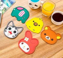1 Pieces Hot Thickening Silicone Insulation Pad Cartoon Felt Antiskid Mat Cup Table Mat Bowl Cup Pads Mat Drink Coaster Placemat