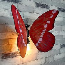 Vintage Wall Lamp Retro American Industrial Loft Wall Light Bedside Bedroom Restroom Butterfly Design With E26 E27 Bulb Base