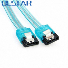 Super Speed SATA 3.0 III Sata 3 SATA3 6GB/s Hard Disk Drive Cable Blue Durable 50cm cable SATA Cable(China)