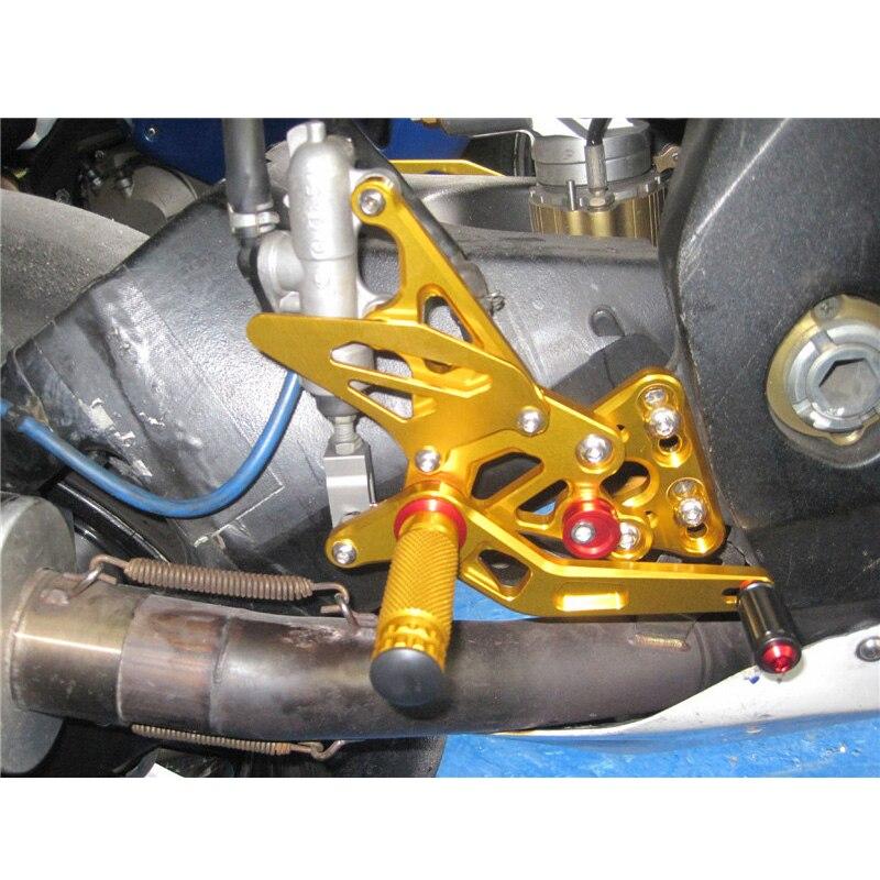 XMT-MOTO Rear Foot Pegs Foot Rest Footrest Bracket Set For SUZUKI GSXR1000 2003-2004