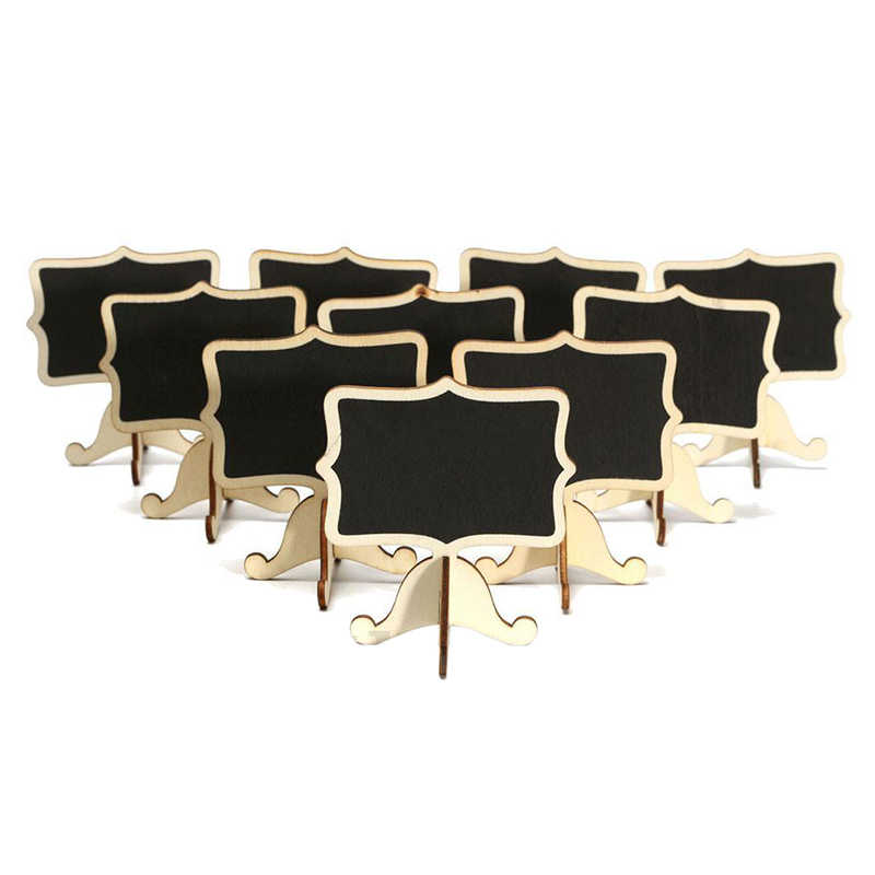 Hot sale 10 Pcs Mini Wooden Small Wedding Blackboard Message Table Number Chalkboard