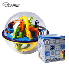 158 Level Intelligence Cube 3D Magical Maze Ball Game Early Childhood Educational Toys Puzzle Track Ball IQ Balance Toys