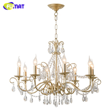 FUMAT American Nordic Living Room Restaurant Pendant Lamp LED Artist Metal Crystal Lights Antique Finished Metal Pendant Light(China)