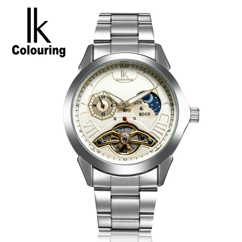 IK Watch 2017 Men Mens 24Hours Manually Moon Phase Watches Mechanical Wristwatch with Box Free Ship<br><br>Aliexpress