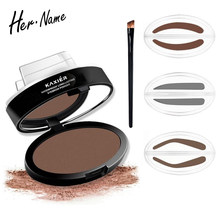 Hername Add An Eyebrow Brush Best Stamp For Perfect Drawing Eye Brow Waterproof Long Lasting Powder