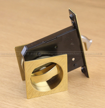 Ke resistant interior sliding door golden stainless steel wooden door lock cabinet bathroom bathroom lock(China)