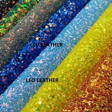 A4 SIZE (21x29cm) Chunky Glitter Leather Glitter Fabric PU Leather for DIY Sewing P45A