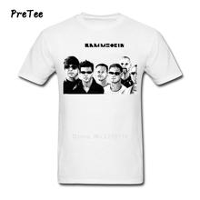 Boy T Shirt Cotton Short Sleeve Rammstein O Neck German Tshirt Rock Band Garment Teens 2017 Modern T-shirt For Men