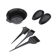 Salon 5 PCS Hair Dying Tools Coloring Brushes Bowl Ear Covers Tinting Dye Hairdressers Styling Earmuffs Kit