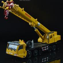 2017 KDW 1:55 Lifting Crane Vehicle Hoisting Crane Engineering Crab Model Diecast Pull Back Machine Kids Toys Gift Collection(China)