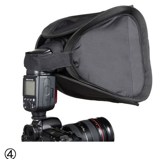 Flash Diffuser 23 x 23cm Soft Box softbox for Flash Light 430ex 580ex sb600 sb800 sb900<br><br>Aliexpress