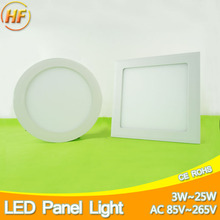 Ultra Thin Round Square LED Panel Light 3w 4w 6w 9w 12w 15w 18w 25w AC 220V Ceiling Recessed Ceiling Light Lamp Ampoule Bombilla