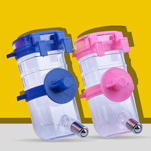 Hot New pet hanging kettle Pet Supplies Drinking Water Bottles Puppy Drinking Fountain Pet Water Dispenser freeshipping(China)