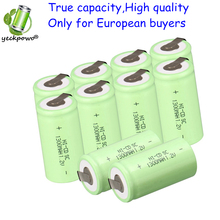 True capacity only for global! 10 pcs SC rechargeable battery SUBC batteria power bank 1.2v 1300mah nicd accumulator