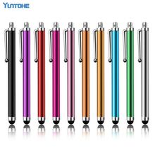 Free Shipping Capacitive screen Metal stylus touch pen with clip for iphone /iPad/mini iPad/iPod touch 500pcs/lot(China)