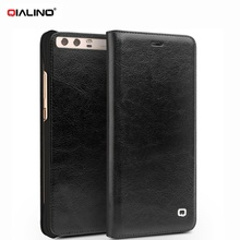 QIALINO Classic Bag for Huawei P10 P 10 Plus P10plus Phone Funda Thin Genuine Cowhide Leather Flip Cover Smartphone Case Shell