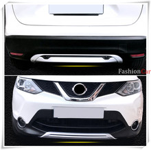 ABS Car Front and rear bumper skid protector guard plate fit for Nissan Qashqai/Dualis J11 2014 2015 2016(China)