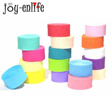 Buy JOY-ENLIFE 25meter Multicolor Crepe Paper Roll DIY Flower Making Wedding Party Venues Decor Baby Shower Birthday Decor Supplies for $2.50 in AliExpress store