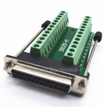 D-SUB Connectors DB25 25Pin Female Adapter Board RS232 Serial to Terminal Signal Module