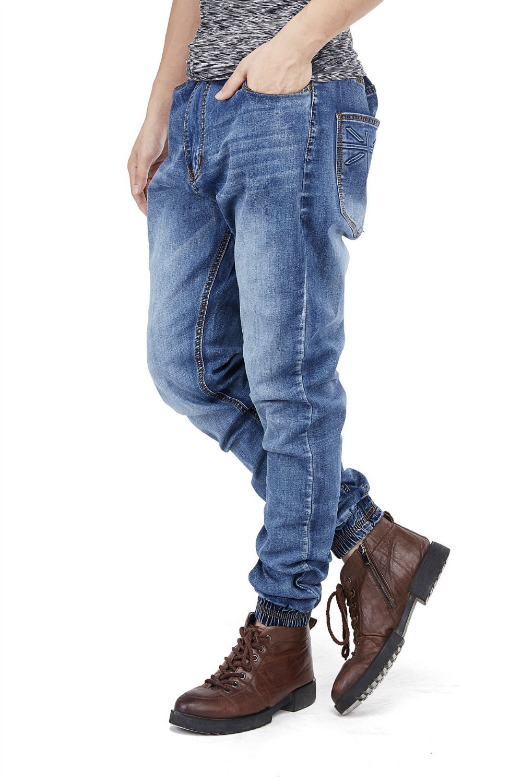 Spring 2017 New HipHop Mens Stretch Harem Jeans Big Size Fit Jeans joggers For Men Hip Hop Skateboard denim Pants 050309Îäåæäà è àêñåññóàðû<br><br>