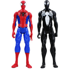 30cm Superhero Spiderman Black Goblin Venom PVC Action Figure Toys Spider Man Joints Moved Model Toy(China)