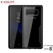 For Samsung Galaxy Note 8 Case Silicone Transparent Back Cover for Samsung Note 8 Case KOOLIFE Brand Phone Case for Galaxy Note8(China)