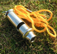 Stainless steel high-frequency high decibel whistle lifesaving metal outdoor survival whistle(Hong Kong)