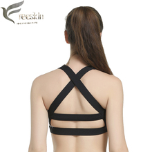 Freeskin Women Sport Bras Cross Straps Running Sports Bra Workout Brassiere Sport Yoga Bra Gym Fitness Tank Tops for Running Bra(China)