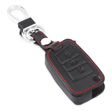 For Volkswagen VW Golf 7 Leather key cases / leather key bag/ Golf 7 key cover(China)