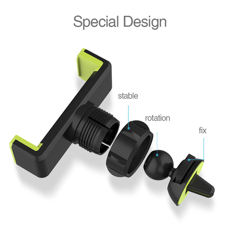 Car Mobile Phone Holder Air Vent Monut Holder Stand Universal 360 Degree Adjustable Car Clip For iPhone X 8 7 5 SE 6 6S Plus (21)