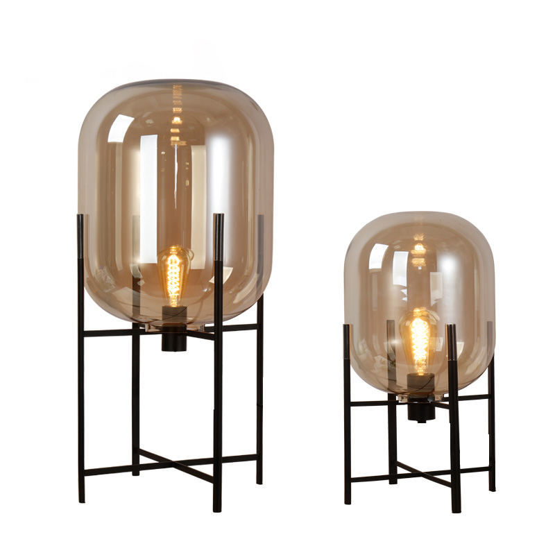 Nordic Style Glass Floor Lamp Retro Melon Floor Lights Fashion Design Glass Table Lamps Lights for Living RoomCountry HouseBar (37)