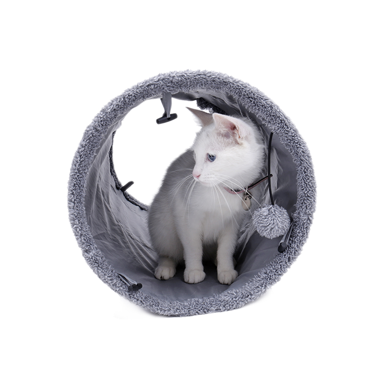 big cat tunnel with ball big cat tunnel Big Long Cat Tunnel with Play Ball Suede Material-Free Shipping HTB1Gi